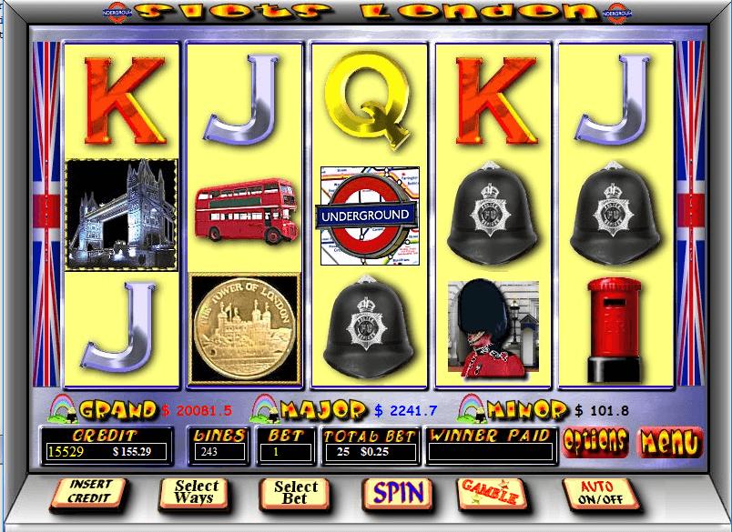 243 ways Slots london pokie
